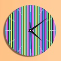 Csíkos óra, Otthon, lakberendezés, Dekoráció, Falióra, óra, Csíkos, modern mintás óra.  Az óra 5 mm-es speciális műanyag lapra van digitálisan rányomtatva, mely..., Meska