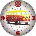 VW hippi busz falióra, Dekoráció, Otthon, lakberendezés, Falióra, óra, Az óra 5 mm-es speciális műanyag lapra van digitálisan rányomtatva, mely nem vetemedik. A nyomtatás ..., Meska