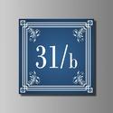 Házszámtábla - díszes, Otthon, lakberendezés, Dekoráció, Utcatábla, névtábla, Díszes kivitelű házszámtábla.  A házszámtábla anyaga időjárásálló (eső hó, fagy). Csavarokkal, vagy ..., Meska