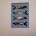 Halacskás falikép, Dekoráció, Otthon, lakberendezés, Dísz, Falikép, Halacskás falikép, amely négy szardíniából áll. A szardíniákból sok változat van, cserélhetők. A sza..., Meska