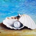 Igazgyöngy, Képzőművészet, Festmény, Olajfestmény, Festészet, 30 x 40 centis olajfestmény feszített vásznon, keret nélkül., Meska