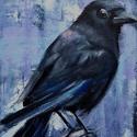 Közeleg a tél - olajfestmény, Képzőművészet, Festmény, Olajfestmény, 24 x 18 centis olajfestmény kasírozott vásznon, keret nélkül. Tél közeledtével ezek a madarak közele..., Meska
