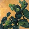 Fügekaktusz - olajfestmény, Képzőművészet, Festmény, Olajfestmény, 40 x 40 centis olajfestmény, keret nélkül. Egyik kedvenc képem, amely már kiállításon is szerepelt. ..., Meska