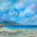 Hív a tenger - olajfestmény, Képzőművészet, Festmény, Olajfestmény, 50 x 50 centis olajfestmény, feszített vásznon, keret nélkül. Nyáron már mindenki vágyik a tenger lá..., Meska