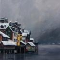 Ködbe vész a távol - akrilfestmény, Képzőművészet, Festmény, Akril, 50 x 40 centis akrilfestmény faroston, lakkozva, keret nélkül. Egy hűvösebb északi, nyugodt, békés v..., Meska