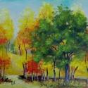 Dacolás az ősszel - olajfestmény, Képzőművészet, Festmény, Olajfestmény, 30 x 40 centis olajfestmény feszített vásznon, keret nélkül. A festmény már szerepelt kiállításon. E..., Meska