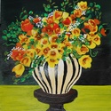 Virágcsendélet - akrilfestmény, Képzőművészet, Festmény, Akril, 59 x 46 centis akrilfestmény faroston, keret nélkül. Ez még az első korszakomban készült, úgyhogy ke..., Meska