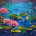 Színes tóról álmodtam - akrilfestmény, Képzőművészet, Festmény, Akril, 30 x 40 centis akrilfestmény feszített vásznon, keret nélkül. Egy csepp természet a lakásban. Pontos..., Meska