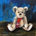 Harry Christmas - akrilfestmény, Képzőművészet, Festmény, Akril, 40 x 40 centis akrilfestmény feszített vásznon, keret nélkül. Egy félreértés során hozzánk került eg..., Meska