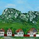 Torockó - akrilfestmény, Képzőművészet, Festmény, Akril, Kb. 36 x 41 centis akrilfestmény faroston, lakkozva, keret nélkül. Erdély egyik csodaszép része. A p..., Meska