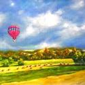 Őszi szelek szárnyán - olajfestmény, Képzőművészet, Festmény, Olajfestmény, Nagyméretű, 50 x 70 centis olajfestmény feszített vásznon, keret nélkül. Kellemes későnyári/koraőszi..., Meska