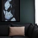 Jelek V., Képzőművészet, Dekoráció, Grafika, Rajz, Fotó, grafika, rajz, illusztráció, Jelek című grafikai képsorozatom egyik darabja. Pasztell krétával készült, fekete kerettel, üveglap..., Meska