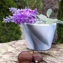Absztrakt  virágcserép, Képzőművészet, Otthon, lakberendezés, Kerti dísz, Kaspó, virágtartó, váza, korsó, cserép, Egyedi készítésű natúr virágcserép akrillal festve.  Víz-, hő-, és fényálló a cserép, virág beleülte..., Meska