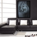 Jelek VI., Képzőművészet, Dekoráció, Festmény, Pasztell, Jelek című grafikai képsorozatom egyik darabja. Pasztell krétával készült, fekete kerettel, üveglap ..., Meska