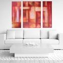 Interior III., Képzőművészet, Dekoráció, Festmény, Akril, Festészet, Absztrakt festészet pihentető hatást és pozitív, megnyugtató energiát sugároz. Gyönyörű dekoráció a..., Meska