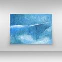 Blue Composition, Képzőművészet, Dekoráció, Festmény, Akril, Festészet, Absztrakt festészet pihentető hatású, pozitív megnyugtató energiát sugároz.  Ezek a festmények vona..., Meska