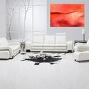 Red Composition, Képzőművészet, Dekoráció, Festmény, Akril, Festészet, Absztrakt festészet pihentető hatású, pozitív megnyugtató energiát sugároz.  Ezek a festmények vona..., Meska