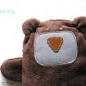 ölelő maci  - Barnabás, Baba-mama-gyerek, Játék, Baba játék, Plüssállat, rongyjáték, Barnabás a medve aki szereti ha elaltatják! Bébiplüssből vetexből és filcből készült kb 20 cm-es mac..., Meska