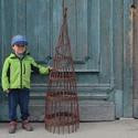 2IN1 Rusztikus, kerti obeliszk natúr fűzvesszőből, Otthon & Lakás, Ház & Kert, Kerti dísz, Fonás (csuhé, gyékény, stb.), Ezt két kerti obeliszket natúr, hántolatlan (héjas) fűzfavesszőből fontam hagyományos kosárfonási t..., Meska