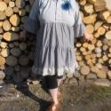 Tunika bohó stílusban, Ruha, divat, cipő, Női ruha, Kismamaruha, Egy férfiing alakult át nőies viseletté, fodrokkal, virágokkal, selyemmel és organzával...  Az én 11..., Meska