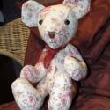 Mackó-készítő csomag szabásmintával, hozzávalókkal,  Róza nagyobb méretű mackó, akit nemcsak a leg...