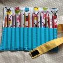 Ceruzatekercs, 12-18 színes ceruza számára készült puha tár...