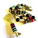 -40%! A hárem kulcsa - nyaklánc AKCIÓ!, Ékszer, óra, Nyaklánc, Egy régi, méretes arany színű kulcsot foglaltam be japán gyönggyel, a láncot aprólékos munkával, pey..., Meska