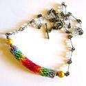 The rainbow - nyaklánc - AKCIÓ!, Ékszer, óra, Nyaklánc,  Egyszerű, kedves csakra láncocska világító Toho gyöngyökkel. Derűhozó, optimizmust gerjesztő.   Pey..., Meska
