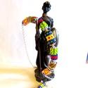 Kenyai képeslap - szett AKCIÓ!, Ékszer, Ékszerszett, Nyaklánc, A maszáj ékszerek ihlették ezt a nyakpántot, Toho hexagon gyöngyből fűztem a peyote hengereket.   Há..., Meska