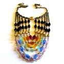 Mirella és a szivárvány - nyaklánc, Ékszer, Nyaklánc,  Csavart cseh üveg gyöngyökből készítettem a hat soros nyakláncot.   Hossza 49 cm., Meska