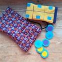 Malom+Tic Tac Toe, Játék, Logikai játék, Társasjáték, Készségfejlesztő játék, Kis zsákban hordozhatjátok magatokkal a Tic Tac Toe és a Malom játékpályát, a szükséges korongokkal ..., Meska