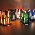 henger mécses (1db), Otthon, lakberendezés, Dekoráció, Gyertya, mécses, gyertyatartó, Üvegművészet, Henger alakú ólomüveg mécses, különböző színekben. A jelenleg készleten lévő színekről kérlek érdek..., Meska