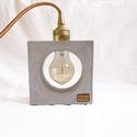 Praktikus beton lámpa Edison izzóval, Otthon, lakberendezés, Lámpa, Asztali lámpa, Szobrászat, Kőfaragás, Egyedi beton lámpa, design Edison izzóval mely meleg fényt áraszt. Robosztus megjelenés, a beton te..., Meska