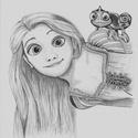 Disney mese ceruzarajz, Képzőművészet, Grafika, Rajz, Fotó, grafika, rajz, illusztráció, Nem nyomtatott kép!!! Saját készítésű grafit ceruzarajz, minőségi papírra. Grafitceruzával (H2-B8) ..., Meska