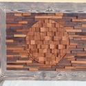 Nagy méretű egyedi fa falidísz, Otthon & Lakás, Lakberendezés, Famegmunkálás, Eladásra kínálok egy kézzel készített egyedi, amerikai dióból és vadkörtefából készült  nagy méretű..., Meska