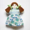 Copfos textilbaba levehető ruhában, Játék, Baba-mama-gyerek, Játékfigura, Plüssállat, rongyjáték, A baba 28 cm magas, egyedi, saját tervezésű, melyet pamut alapanyagú textilekből varrtam.  Szem..., Meska