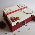Karácsonyi doboz- Classic Christmas style, Gyerek & játék, Otthon & lakás, Karácsony, Dekoráció, Ünnepi dekoráció, Gyermekednek különleges és egyedi, ugyanakkor maradandó ajándékot keresel? Ennek a fából készült kar..., Meska
