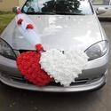 Esküvői Luxus autódísz, Dekoráció, Esküvő, Dísz, Esküvői dekoráció, Virágkötés, A luxus dizájnra ervezett minőségi autódíszt minden házasulandó párnak ajánlom, hiszen  megérdemlit..., Meska