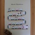 Adventi kalendárium kifestő, színező - vonat, A4-es méretű színezhető adventi kalendárium. ...