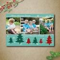 Fényképes karácsonyi képeslap, üdvözlőlap - karácsonyfás - ajándék nagymamának, Dekoráció, Ünnepi dekoráció, Karácsonyi, adventi apróságok, Ajándékkísérő, képeslap, Fotó, grafika, rajz, illusztráció, Lepd meg szeretteidet saját fényképpel ellátott egyedi képeslappal karácsonyra. 3db fényképet oszth..., Meska