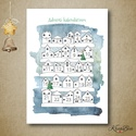Adventi kalendárium kifestő, színező - házikó- A4-es, A4-es méretű színezhető adventi kalendáriumot...