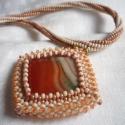 Narancsos kakaó LEFOGLALVA twoni részére, Csodaszép színű és mintázatú ásványt talá...