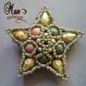 Fűzésminta:Double Star, Méretes csillagot készíthetsz gyöngyökből en...