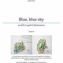Fűzésminta: Blue sky medál és gyűrű, Kettő az egyben minta, mind a medál, mind a gyű...