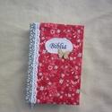 Piros-szürke Bibliaborító, Piros és szürke virágos minőségi pamutvászon...