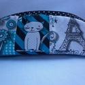 Párizsi cica - tolltartó, szemüvegtartó, Minőségi amerikai pamutvászon anyagból készü...