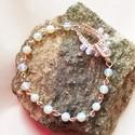 Opalit ásványgyöngyös karkötő, Ékszer, Mindenmás, Karkötő, Medál, Ezüstözött ékszerdrótból készítettem díszes kapcsot a 4 mm-es és 6 mm-es opalit ásványgyöngyökből ké..., Meska