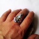 Opalit ásványgyöngyös gyűrű (klarion) - Meska.hu