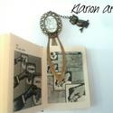 Baglyok könyvjelzô , Naptár, képeslap, album, Ékszer, Dekoráció, Könyvjelző, Bronz színű, könyvjelző alapra üveglencse alá rejtettem egy kedves bagoly képet, egy bronz bagoly fi..., Meska