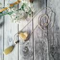 Auratisztító citrin és  achát ásvány nyakláncot, Auratisztító citrin hengerből és egy csepp ala...